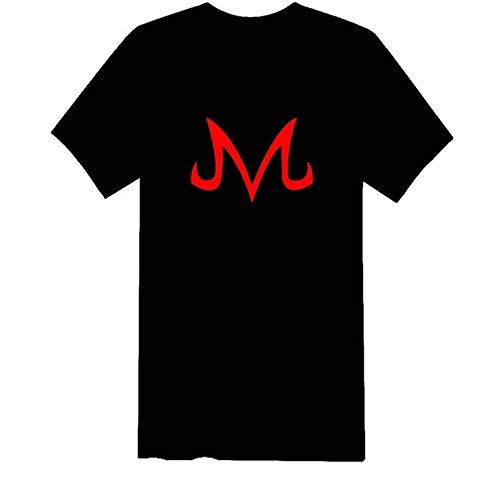 Shipping Joy Dragon Ball Z Majin Logo Symbol Babidi Short Sleeve Cotton T Shirt (Black red, XL)