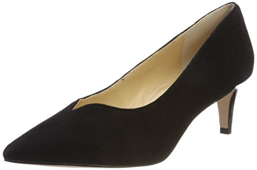 CAPRICE Damen Gillian Pumps, Schwarz (Black Suede 4), 38.5 EU