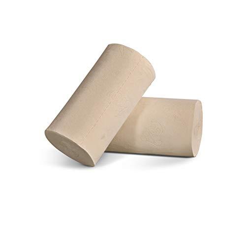 Familie Milieubescherming 4 Lagen Toiletpapier Bamboe Pulp Natuurlijke Kernloze Rol Papieren Handdoeken Voor Moeders En Zuigelingen (24 Delen) -ecologische Kleur