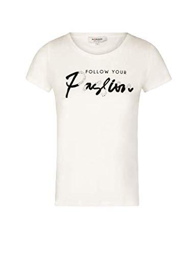 Morgan Tshirt DFOLLOW Camiseta, Off White, Large Alto para Mujer