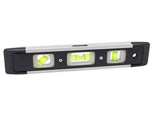 Jacent 9 Inch Torpedo Level with Magnetic Edge, 1-Pack