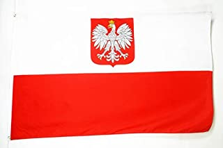 AZ FLAG Poland with Eagle Flag 2' x 3' - Polish Coat of arms Flags 60 x 90 cm - Banner 2x3 ft