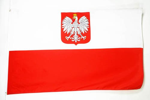 AZ FLAG Flagge Polen MIT Adler 90x60cm - POLNISCHE Fahne 60 x 90 cm - flaggen Top Qualität