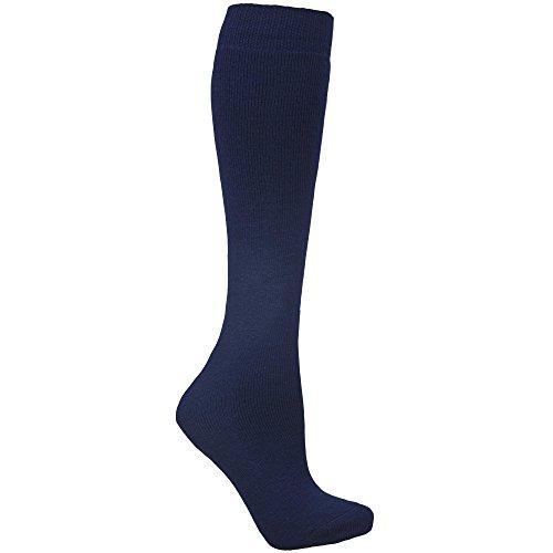 Trespass Unisex Ski-Socken mit Wollanteil (37-46 EU/4-11 UK) (Marineblau)