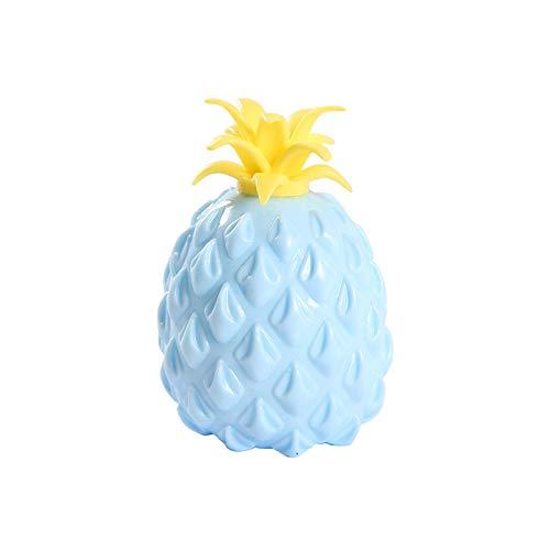 Fossen Pineapple Ball Juguetes antiestrés, Antiestrés de Piña Relleno de Canicas Pequeñas (Azul)