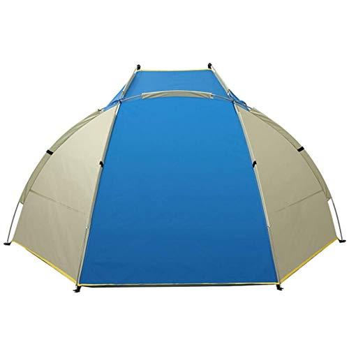 CATRP Marca Tenda da Spiaggia 1-2 Persone Quick Open Parasole Protezione Solare Capanno da Pesca, 3 Colori (Color : Blue)