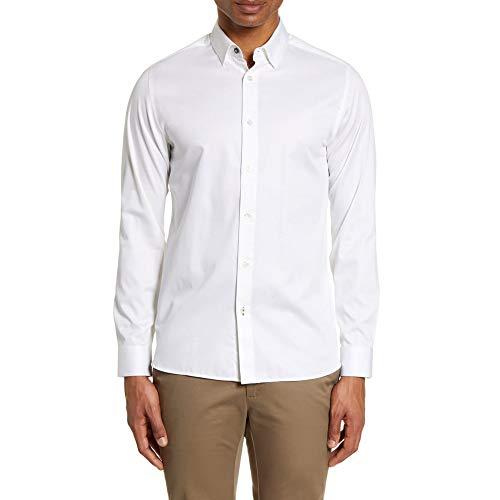 Ted Baker Bobcut LS - Camisa de satén Lisa, Color Blanco