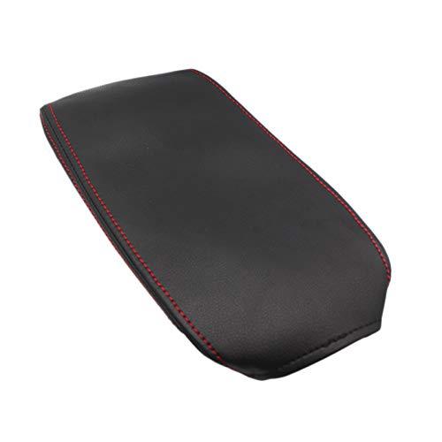 Gesh Reposabrazos central de la consola del reposabrazos de la almohadilla de la caja de la almohadilla para Corolla E210 2019 2020 de cuero sintético negro con línea roja