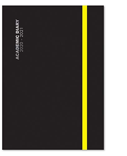2020-2021 A5 Mid-Year Black Day a Page Academic Diary Glossy Hardback