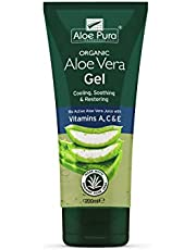 Optima Aloe Pura Aloe Vera Gel Organic Vitamine A C E, 200 ml
