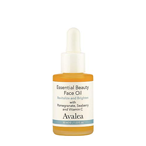 Essential Beauty Face Oil - Vitamin C, Squalane, Sea Buckthorn & Pomegranate - Anti-Aging Formula - Avalea Skincare - 1.0 fl.oz.