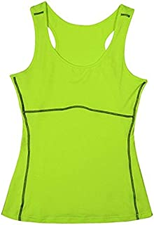 2019 DY9 Women Compression Under Base Sports Wear Yoga Tank Tops Ladies Gym Shirts s Clothes Running Cami Vest : Green, M