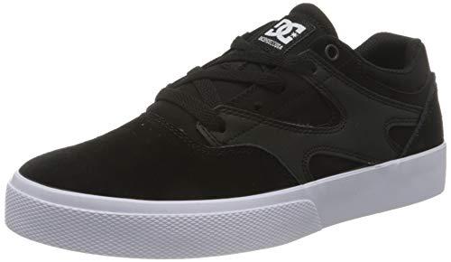 DC Shoes Kalis Vulc Sneaker, Black/Black/White, 35 EU