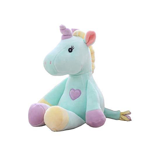 Georgie Porgy Pluche Eenhoorn Peuter Pluizig Knuffel Unicorn, Zacht Dierenspeelgoed Voor Verjaardagscadeau Voor Kinderen (Groen)