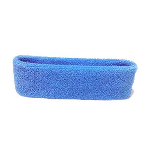 WEARRR 1pc Mujeres/Hombres Diadema Deportes Deportes Yoga Fitness Estiramiento Sudor Sweatband Pelo Banda Elasticidad Diadema Cabeza Ropa Deportiva Seguridad (Color : Sky Blue)