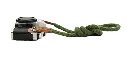 DOROM Vintage Handmade Cotton Leather Camera Neck Strap for Leica Nikon Fuji Pentax Canon Panasonic Sony
