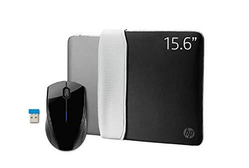 HP 2-In-1 Accessoireset voor Laptops/Chromebook/Mac, 15,6 Inch (39,6 Cm), Omkeerbare Hoes En Draadloze Muis 220) Zwart/Zilverkleurig