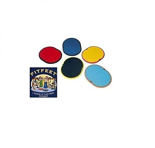 Tappetino poggiapiedi (piscina, palestra, doccia) FITFEET (giallo/nero)
