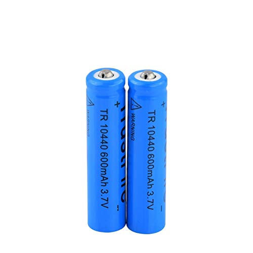 josiedf 3.7v 600mah 10440 BateríAs De Litio De Iones De Litio, BateríAs Recargables para Antorcha, Linterna De Luz LED, Control Remoto 2pcs