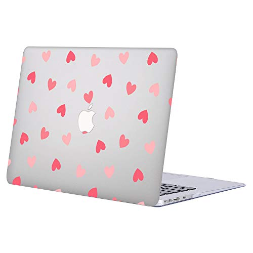 AJYX Case for MacBook Pro 15 inch 2015 2014 2013 2012 Release A1398 Smooth Touch Plastic Protective Shell with Pattern on Laptop Hard Case for MacBook Pro 15' with Retina Display, Pink & Love