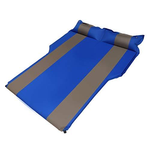 WUX Colchones de Aire Coche Colchón Inflable, SUV Baúl Trasero del Amortiguador De Aire De La Cama, For El Viaje De Camping Actividades Al Aire Libre, 175X130CM (Color : Blue)