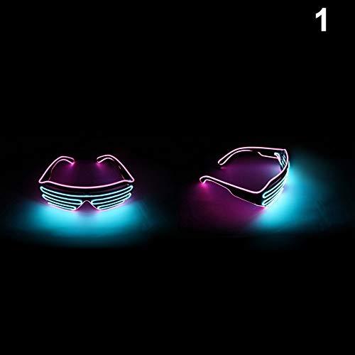 Starmood - Gafas Intermitentes Doble Color luz LED