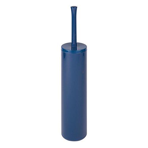 mDesign scopino wc con portascopino in stile moderno – scopino bagno curato nei dettagli – realizzato in materiale plastico di qualità – colore: blu navy
