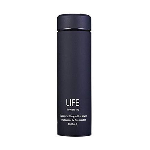 xuanyanhu Frasco de vacío de té Termo de 500ml para el hogar con Filtro Taza térmica de Acero Inoxidable Taza de café Botella de Agua Oficina Hogar Deporte