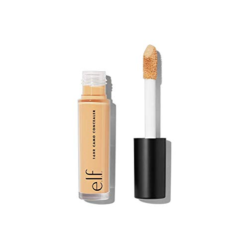 e.l.f., 16HR Camo Concealer, Full Coverage, Lightweight, Conceals, Corrects, Contours, Highlights, Light Beige, Dries Matte, 6 Shades + 27 Colors, Ideal for All Skin Types, 0.203 Fl Oz