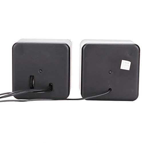 Yisenda Altavoz, Mini Altavoz Compacto Negro de la PC del Estilo del Cubo 3.5mm para el Ordenador portátil(Two-Channel)