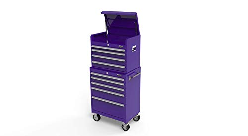 Viper Tool Storage 26-Inch 9-Drawer Steel Tool Cabinet and Chest Combo, Purple (VC2609PU)
