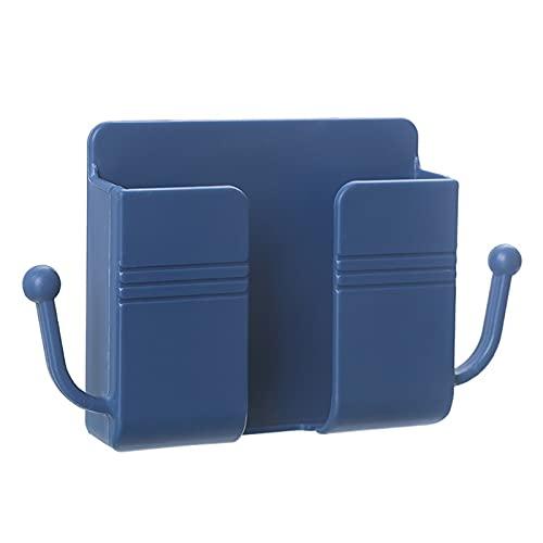 BullBallBoll Soportes adhesivos para teléfono con 2 ganchos laterales para teléfonos celulares de carga de soportes para estantes de fijación de pared