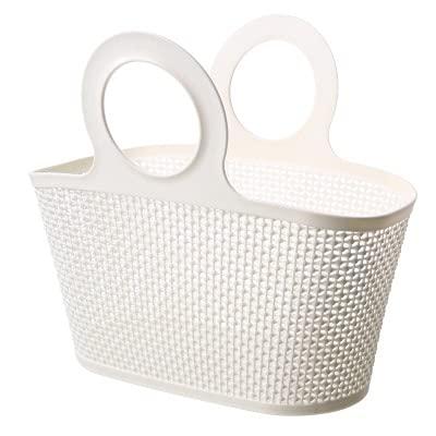 XKMY Cestino da bagno in plastica portatile per il bagno prodotti per shampoo e articoli da bagno cestino portaoggetti multifunzionale vuoto piccolo (colore: bianco, dimensioni: 43x20x36.5CM)
