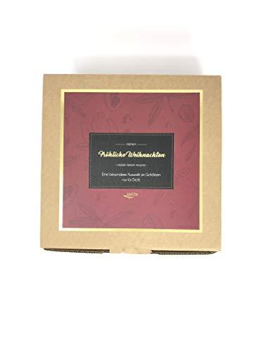Jalall D'or Geschenkbox Weihnachten | 2 Nuss-Mischungen mit Zimtmandeln und Schokoladenfrüchten