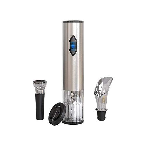 LKNJLL Bottiglia di Vino Elettrico Apri Set - Automatico Cavatappi Opener motorizzato a Batteria Cordless Puller Combo con Un Foglio di taglierina di Vuoto Tappo del Vino Pourer