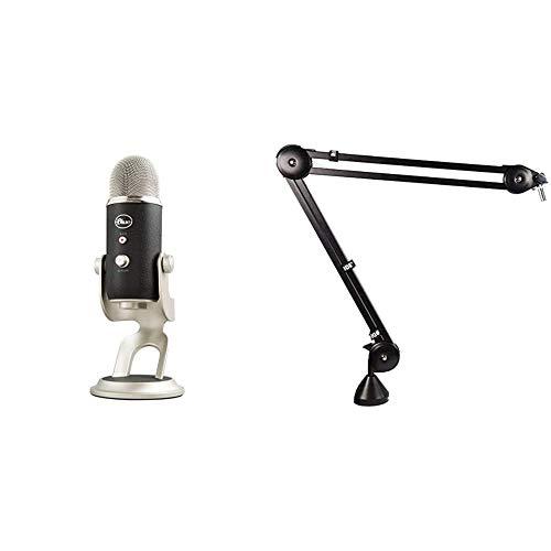 Blue Microphones Yeti Pro Professionelles USB und XLR Mikrofon, Schwarz/Silber & Røde PSA1 Gelenkarmstativ