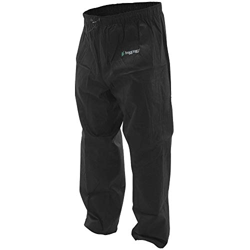 Frogg Toggs Pro Action Waterproof Rain Pant, Black, Medium