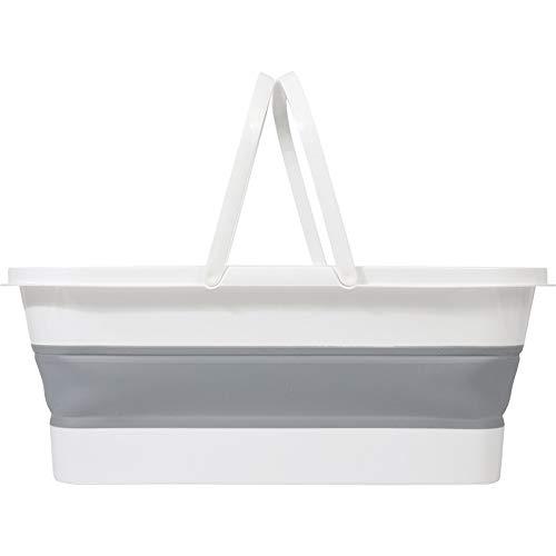 XKMY Cuenca plegable plegable de silicona para fregona, mango portátil, herramientas de limpieza para el hogar, multifunción, plegable, para camping, coche, cubos de lavado (color: 02)