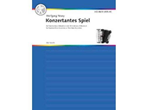 konzertantes parte para acordeón bajo y estándar Acordeón con manual I + III de Wolfgang newy