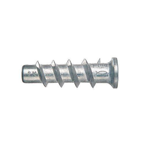 fischer FTP M 8 - Turbo Pornbetonanker aus Metall zum Befestigen Bildern, Gardinenschienen, Heizkörpern uvm. in Porenbeton und Vollgips-Platten - 25 Stück - Art.-Nr. 78416