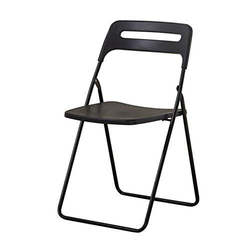 QIDI Chaise Pliante Meubles Capacité De 330 LB Plastique Portable Solide Intérieur De Plein Air Chaises (Couleur : Noir)