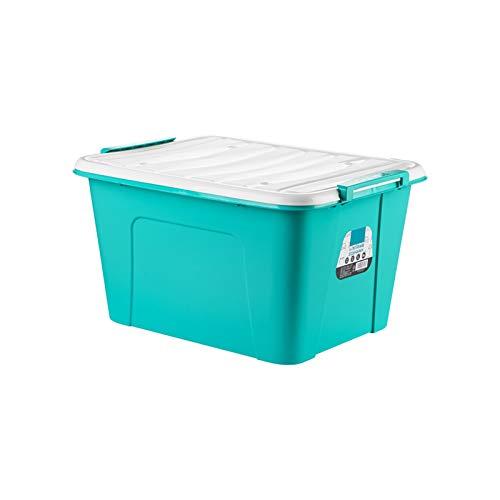 YUMEIGE Kosmetische Aufbewahrungsbox Aufbewahrungsbox, Trunk-Aufbewahrungsbox, Kinderspieler-Aufbewahrungsbox, Autoaufbewahrungsbox mit Deckel, kann gestapelt werden, geeignet für Schlafzimmer, Badezi