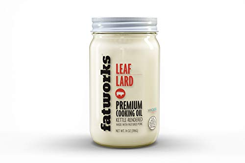 Fatworks, Pasture Raised Leaf Lard, a.k.a. 'Baker's Lard', Artisanally Rendered, for Traditional & Gourmet Baking, Sauteeing, Frying, WHOLE30 APPROVED, KETO, PALEO,14 oz.