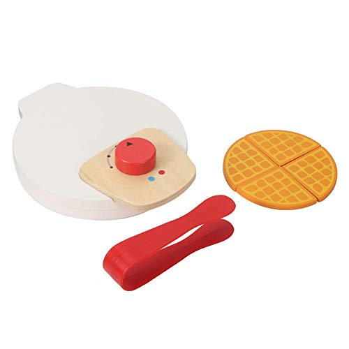 Qioniky Juguete de Cocina, Juguete de Crepe, inofensivo, no tóxico, Colores Brillantes, artículo de Madera para bebés y niños(Baking Machine)