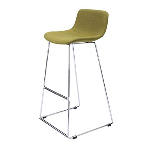 Good Shopping Bar Stools Kitchen Chairs Simple Leisure Counter Bar Chairs Seat, Home Pub Cafe Nordic Wrought Iron Breakfast Dining High Stools with Backrest Home Garden Furniture (Color : D)