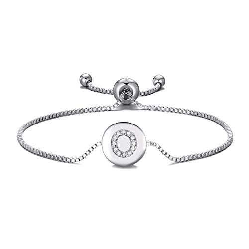 Philip Jones Initial Friendship Bracelet Letter O Created with Austrian Crystals