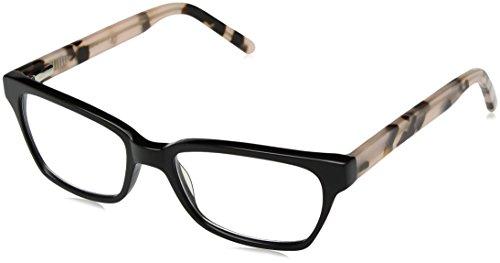 A.J. Morgan Women's On Time-Power 2.00 Rectangular Reading Glasses, Black/Pink TORT, 2
