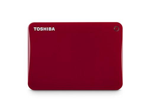 Toshiba Canvio Connect II 3TB Portable Hard Drive, Red (HDTC830XR3C1)