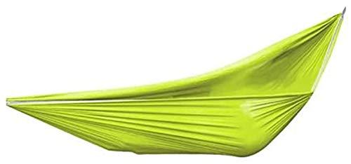 MCE Hamaca para acampar al aire libre Hamaca de un solo columpio para adultos o para escalada y ocio Hamaca de fibra de poliéster (color: 260 x 150 cm, tamaño: B)