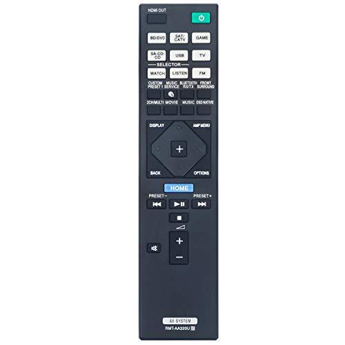 RMT-AA320U Replacement Remote Control Applicable for Sony AV Receiver STR-ZA810ES STR-DN1080 STRZA810ES STRDN1080